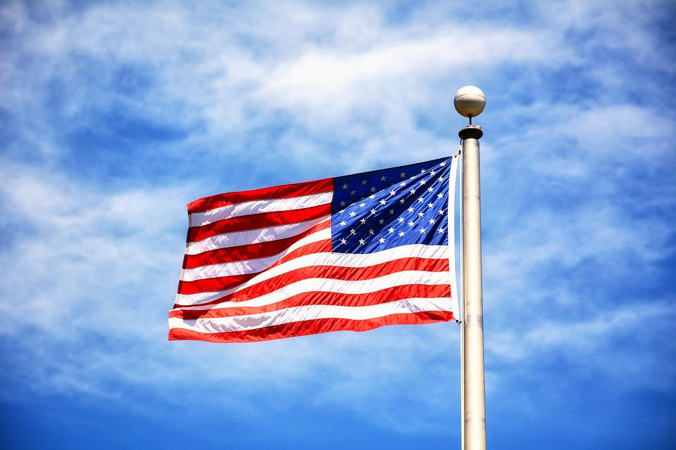 Flag, American Flag, Red, White And Blue, Sky, Blue