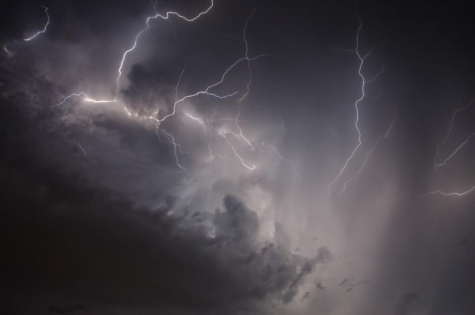 Flash, Sky, Clouds, Energy, Thunderstorm, Night