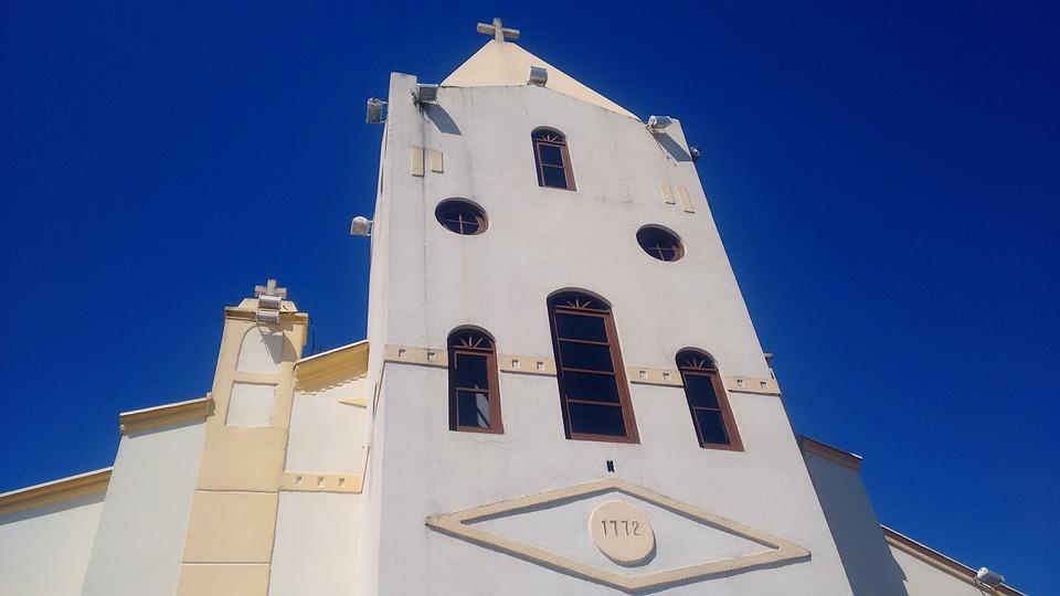 Church, Blue Sky, Brazil, Florianópolis, Sky, Colonial