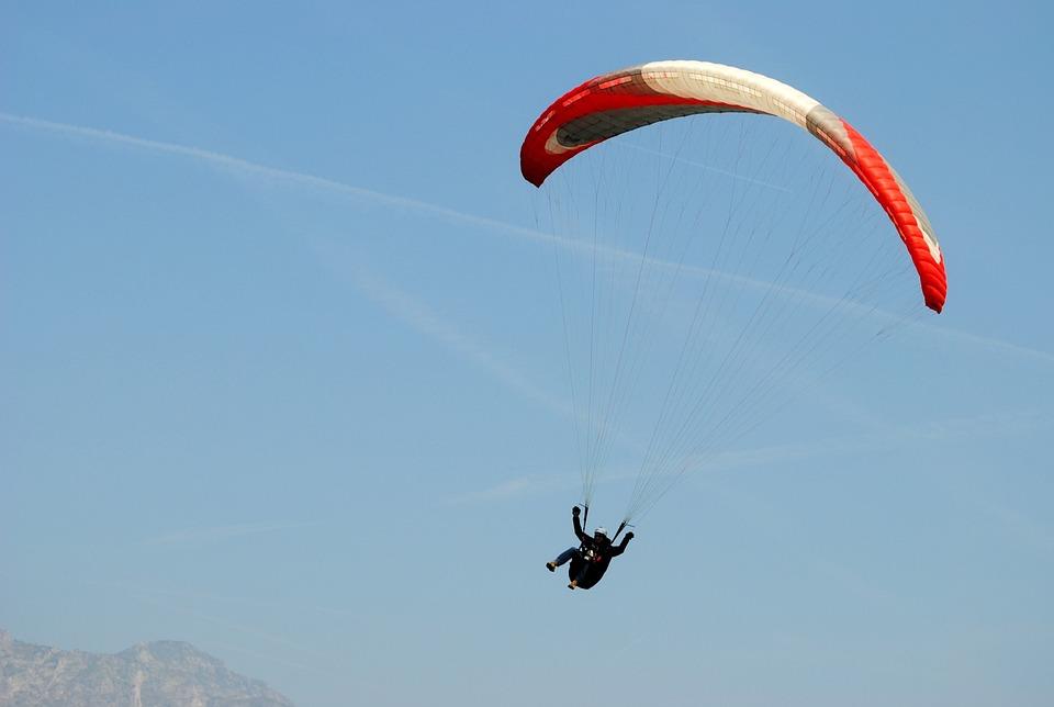 Paragliding, Blue Sky, Parachute, Sport, Fly, Sky