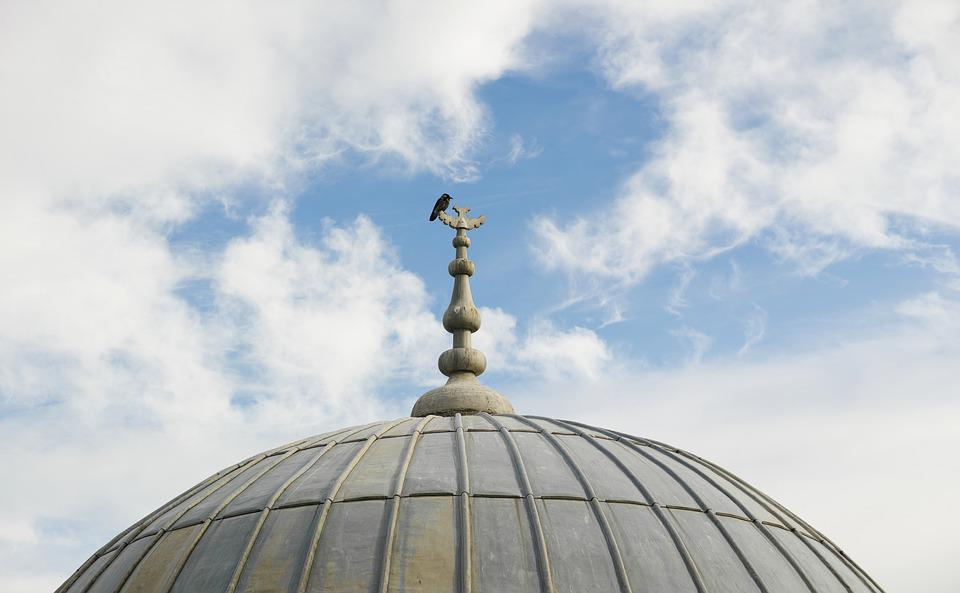 Bird, Dome, Blue, Fly, Sky, Architecture, Old, Peace