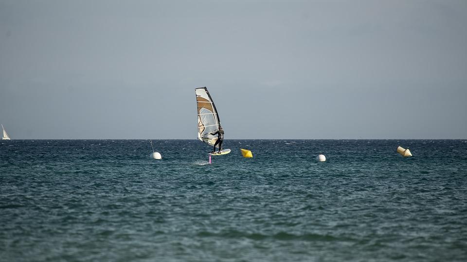 Sea, Ocean, Summer, Sky, Surf, Wind Surfing, France
