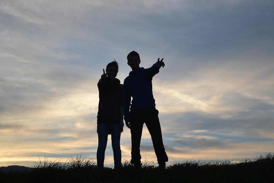 Friendship, Directory, Blue, Sky, Shadow, Sunset