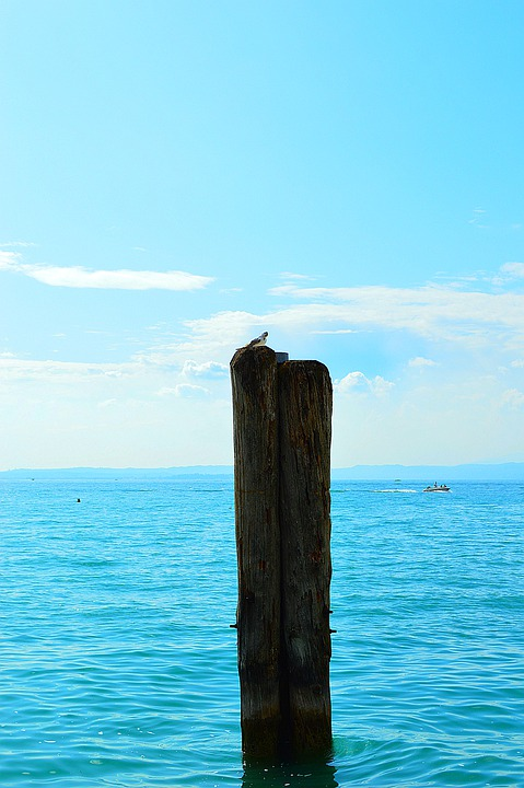 Garda, Lake, Water, Sky, Clouds, Blue, Vacations, Italy
