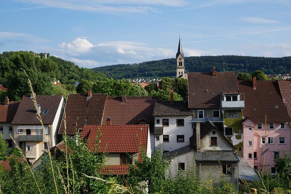 Tuttlingen, City, Church, Germany, Sky, Homes