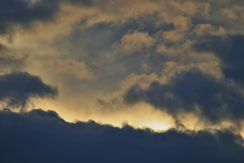 Dark Clouds, Sky, Clouds, Dark, Shadow, Glow, Light