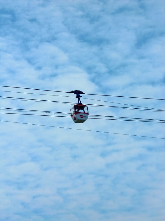 Gondola, Cable Car, Sky
