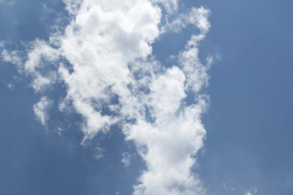 Green, Sky, White Cloud