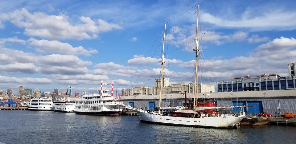 Sailboat, Watercraft, Sky, Dock, Ship, River, Harbor