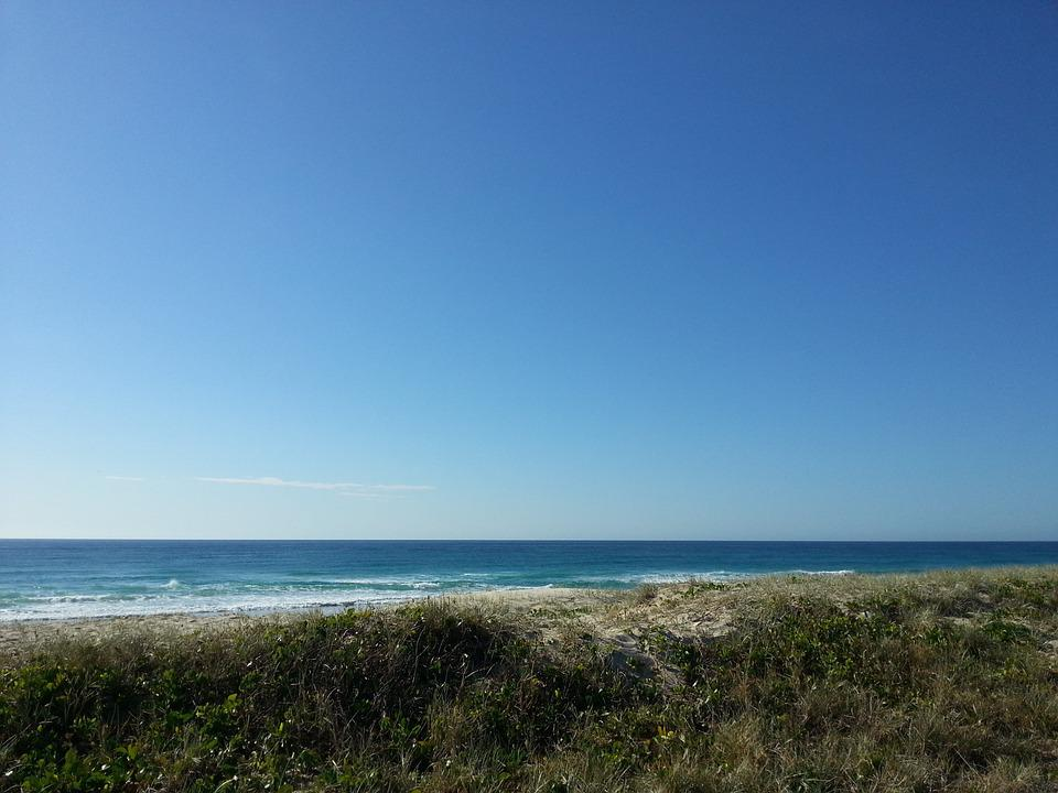 Sea, Ocean, Sky, Headland
