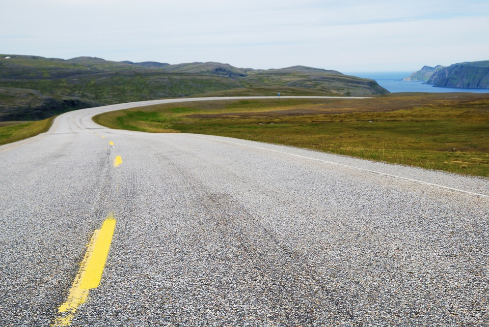 Road, Norway, Journey, Horizon, Sky, Sea, Nature, Day
