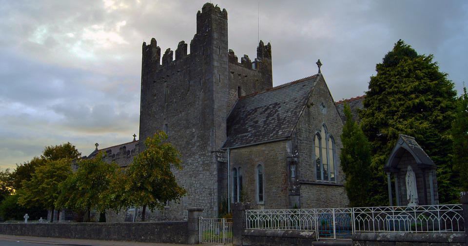 Ireland, Church, Stone, Cathedral, Sky, Bell Tower