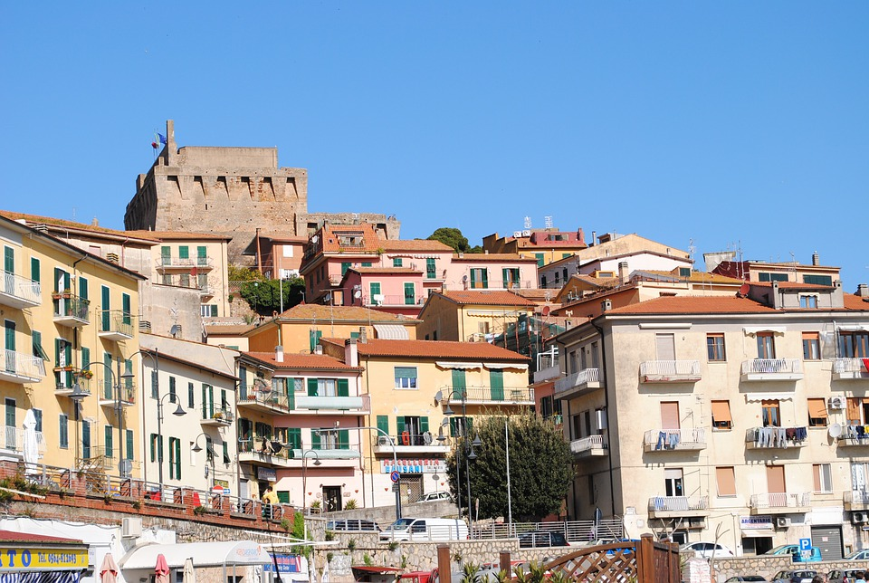 Porto San Stefano, Port City, Italy, South, Sky, Blue