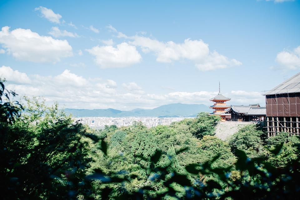 Kyoto, Japan, City, Asia, Sky, Building, Japanese
