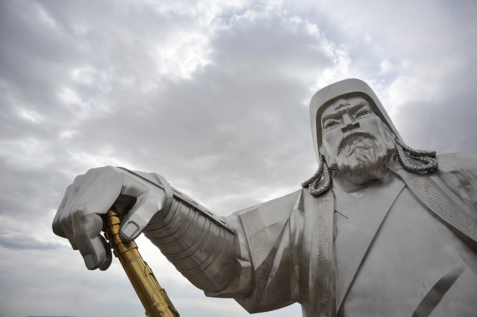 Mongolia, Genghis Khan, Sky, Statue, Jingkiseukan