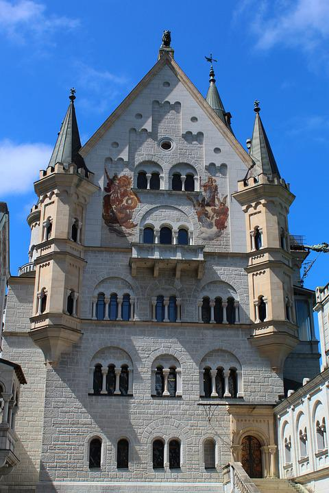 Kristin, Castle, Fairy Castle, King Ludwig, Sky