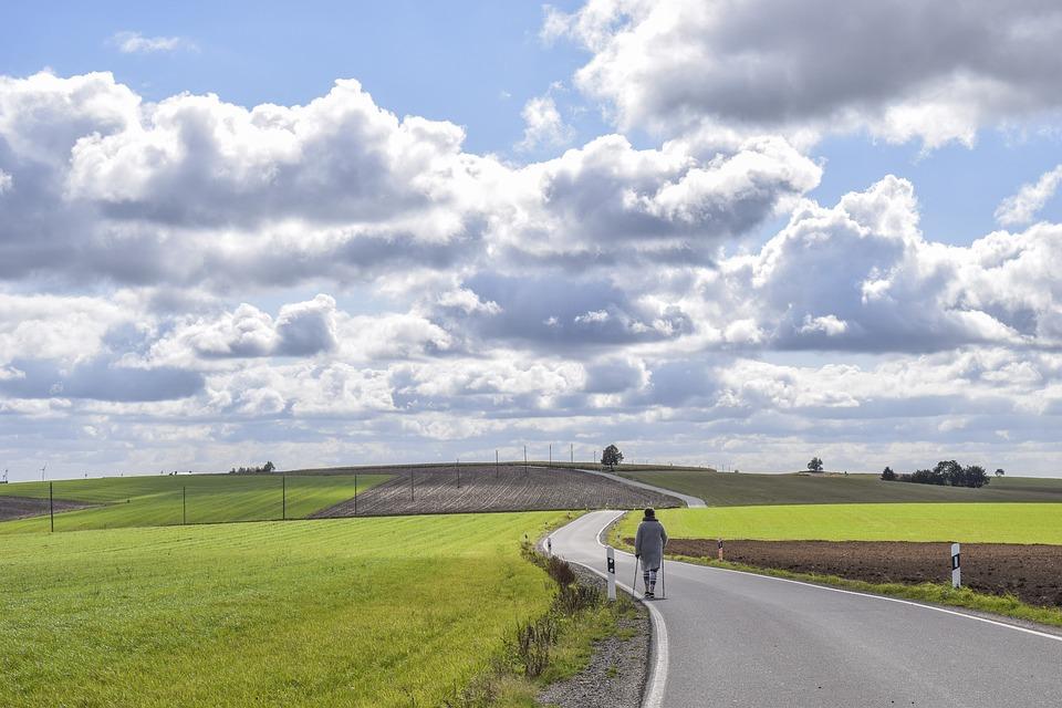 Landscape, Road, Nature, Scenic, Sky, Clouds, Asphalt