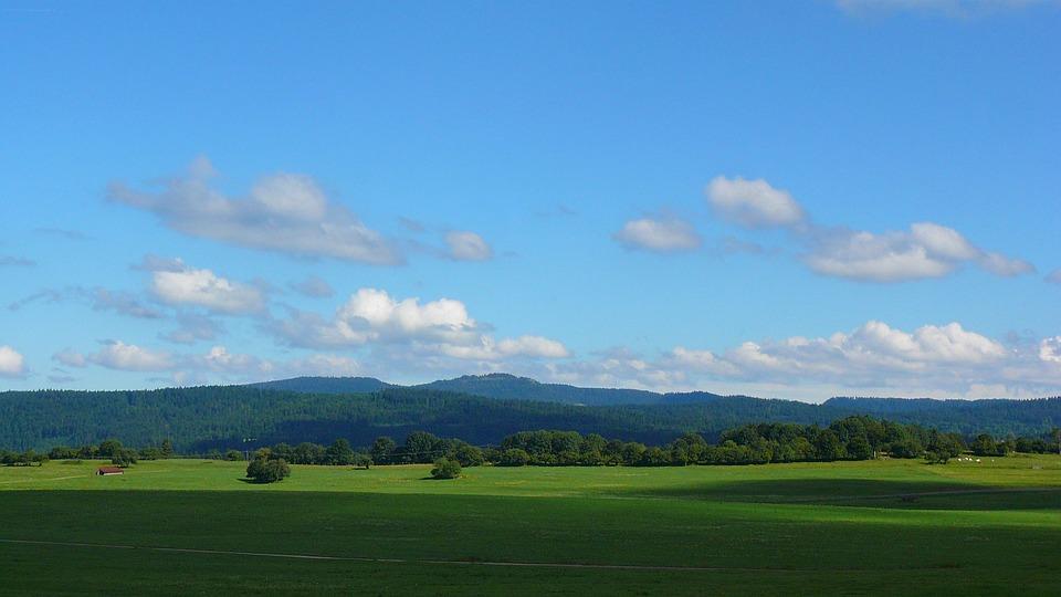 Landscape, Prairie, Sky, Clouds