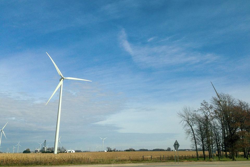 Sky, Windmill, Landscape, Wind, Clouds, Nature, Farm
