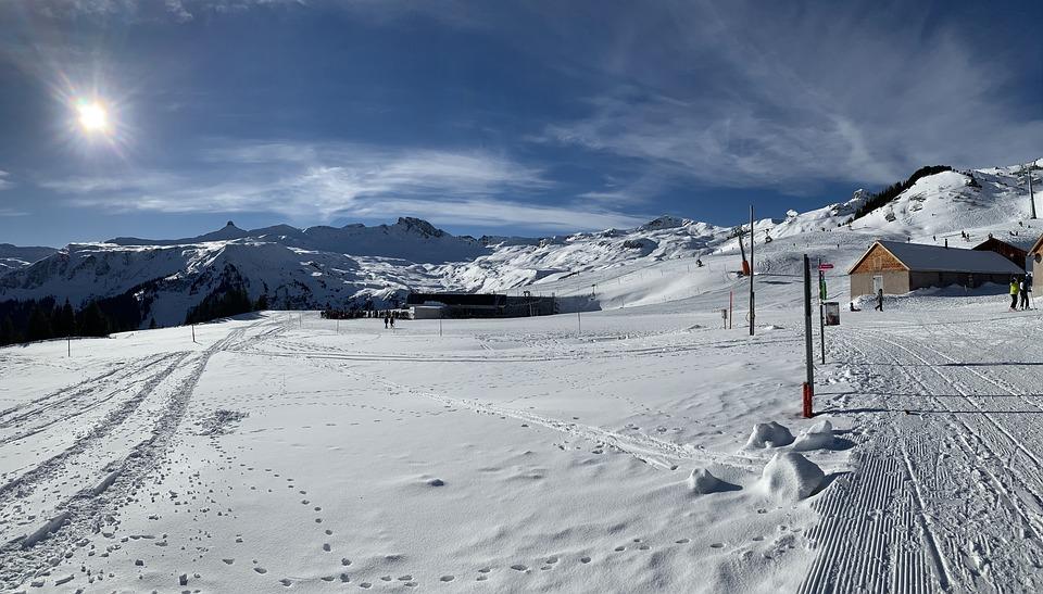 Winter, Flumserberg, Panorama, Landscape, Snow, Sky