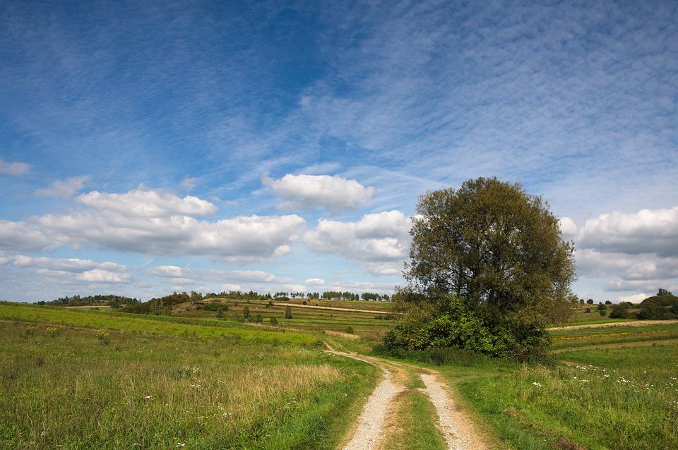 Landscape, Poland, Clouds, Sky