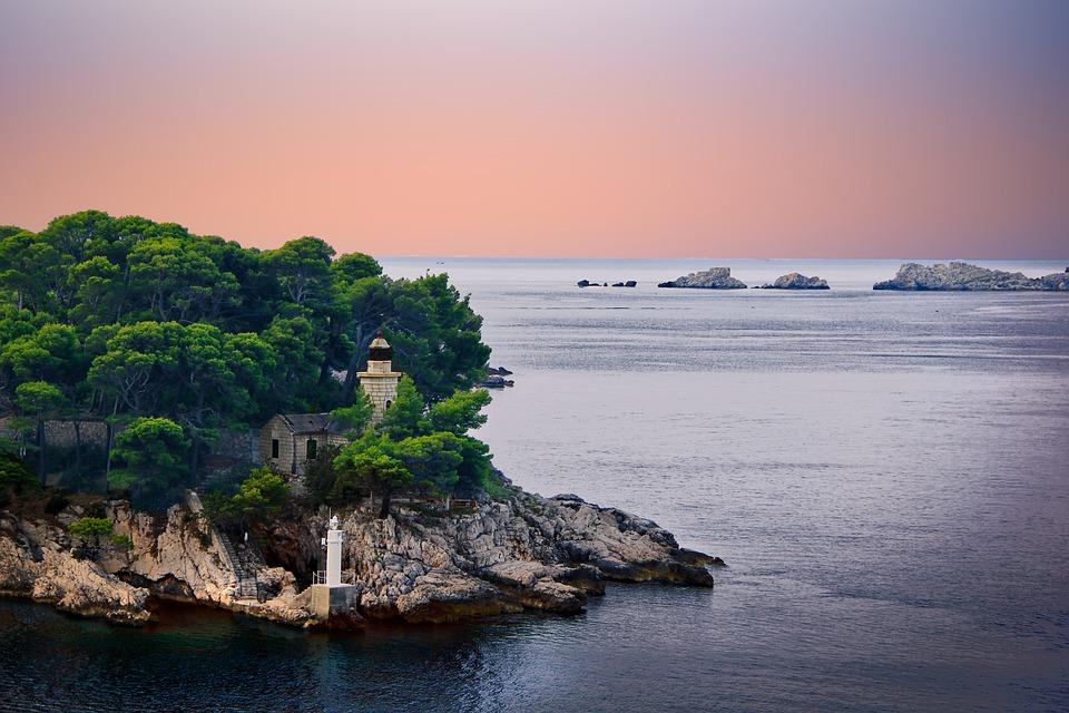 Water, Sea, Sunset, Beach, Sky, Landscape, Island