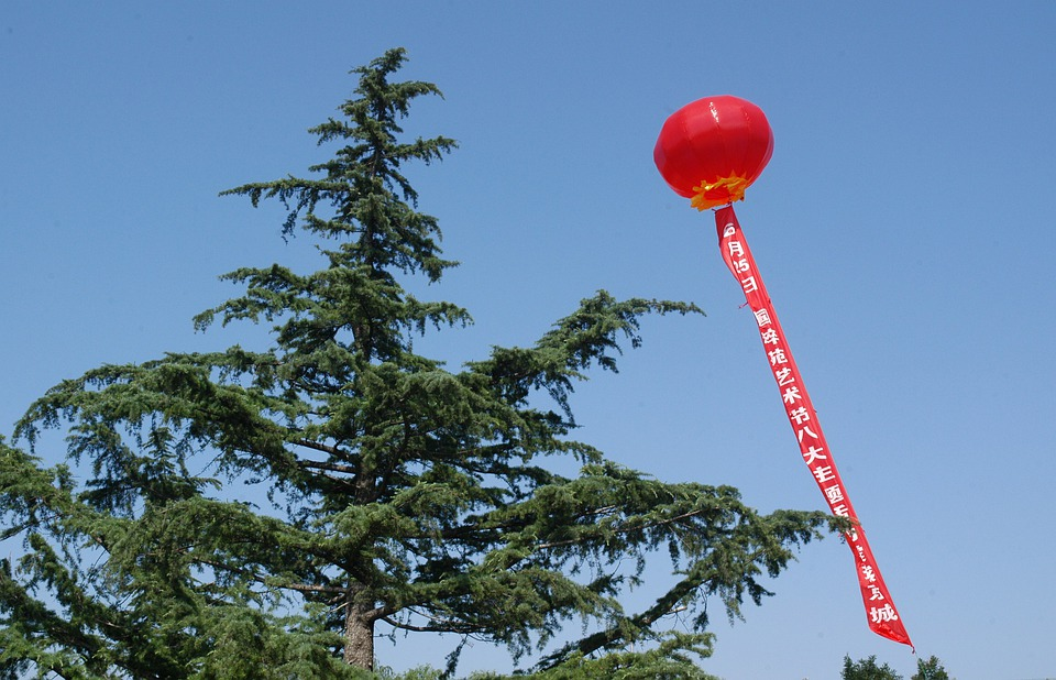 Banner, Lantern, Ornamental, Tree, Sky, Celebration