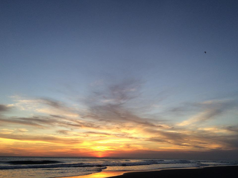 Guatemala, Sky, Clouds, Sea, Sunset, Latin America