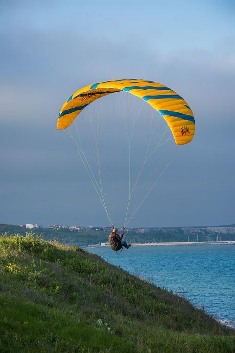Sky, Parachute, Leisure, Freedom, Adventure, Outdoors