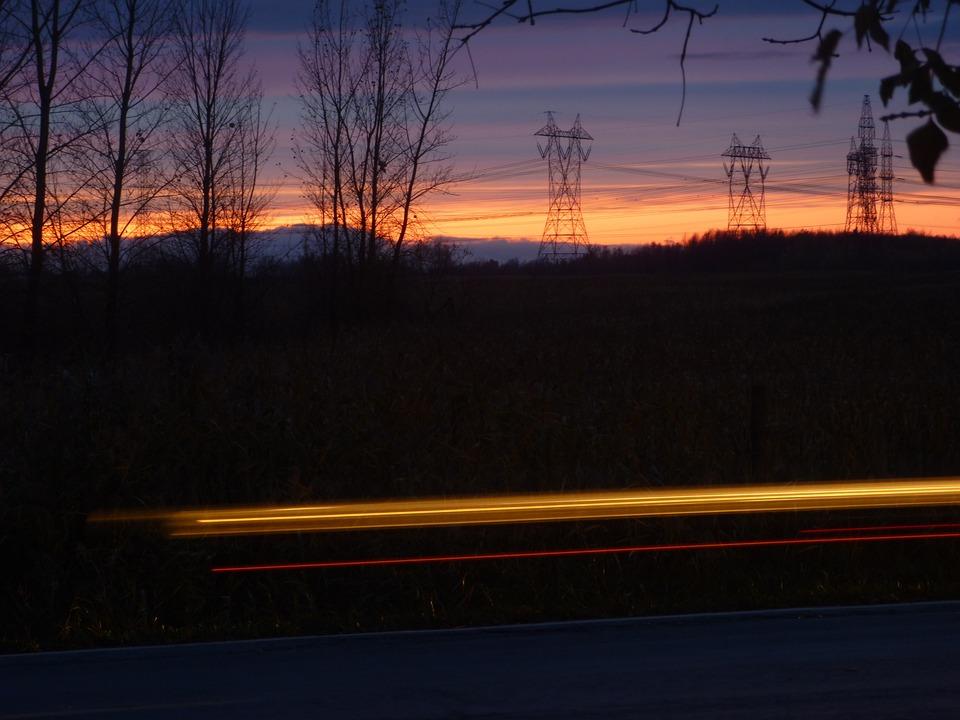 Night, Movement, Lighthouse, Light, Pylon, Sunset, Sky