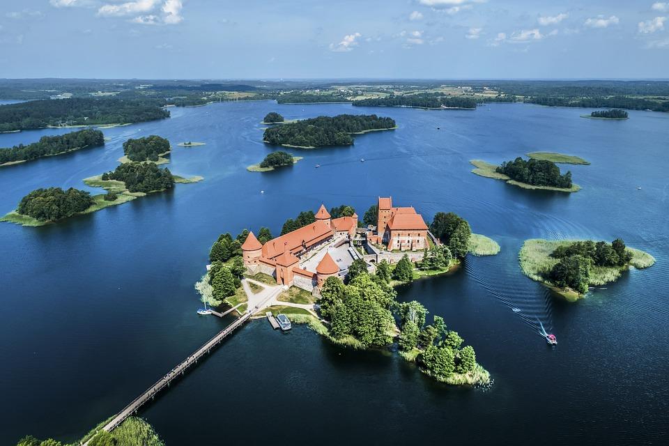 Castle, Nature, Lithuania, Landscape, Fantasy, Sky