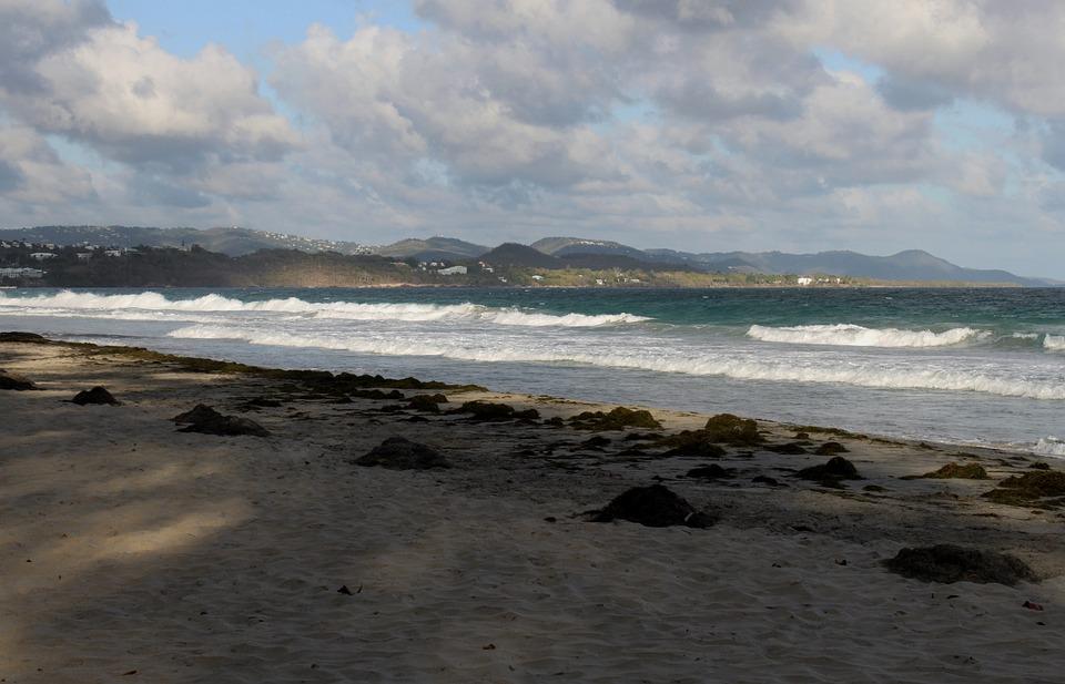 Martinique, Beach, Sky, Ocean, Cloud