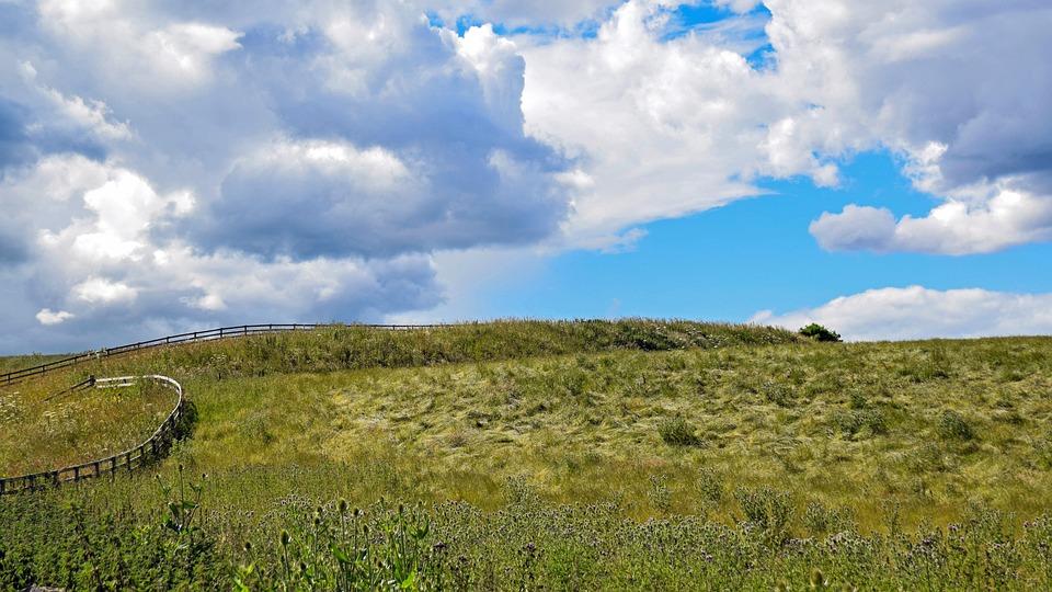 Scotland, England, Sky, Clouds, Landscape, Meadow