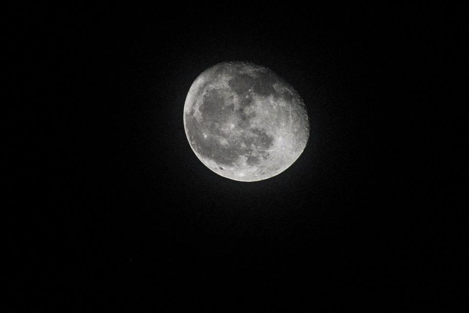 Moon, Night, Sky, Moonlight, Dark, Lunar, Midnight