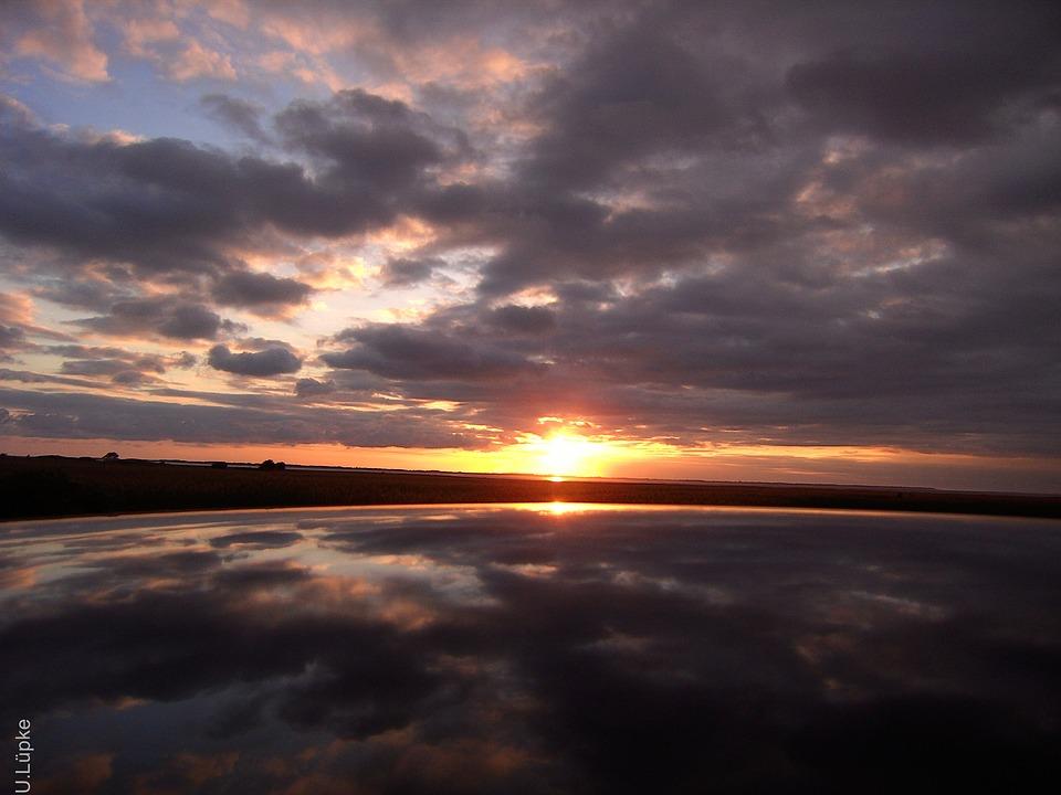 Sunrise, Sky, Mirroring
