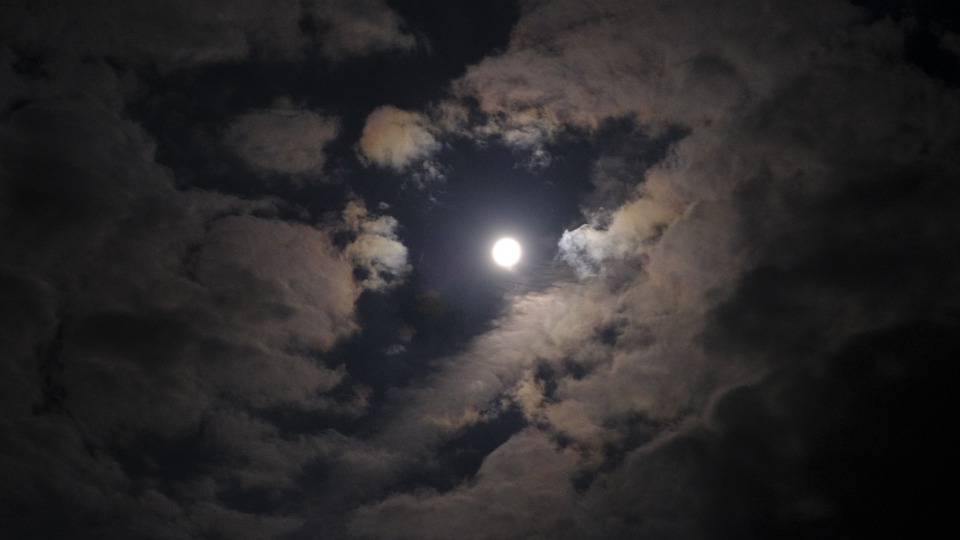 Full Moon, Night, Moon, Moonlight, Dark, Nature, Sky