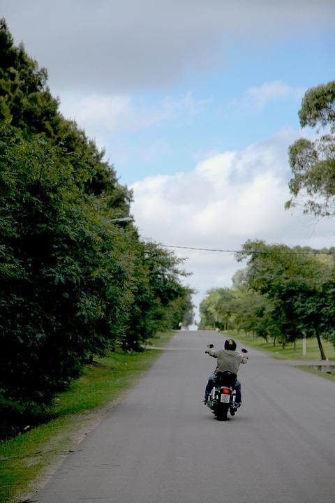 Freedom, Motorcycle, Sky, Route, Path, Helmet, Travel
