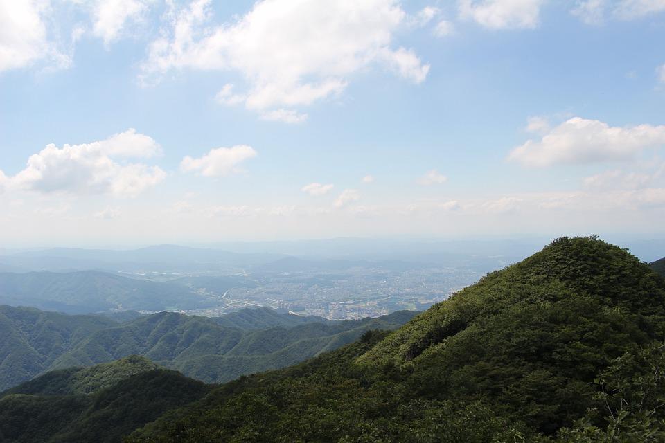 Mountain, Cloud, City, Landscape, Sky, Travel, Outdoors