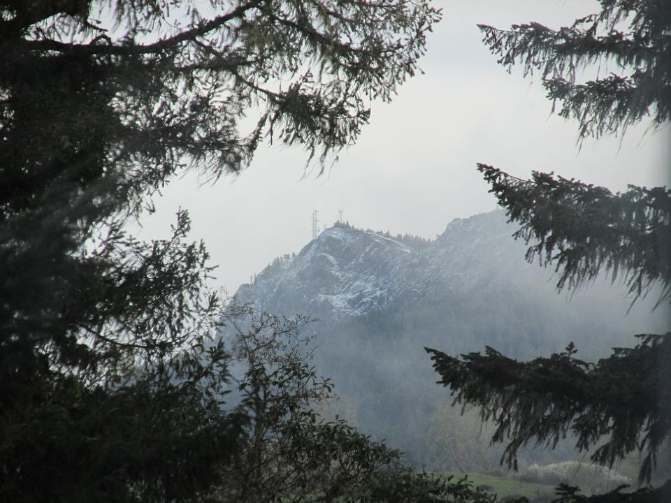 Winter, Tower, Mountain, Outdoor, Sky, Fog, Landscape