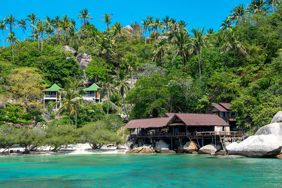 Thailand, Sea, Mountains, Nature, Landscape, Sky, Trees