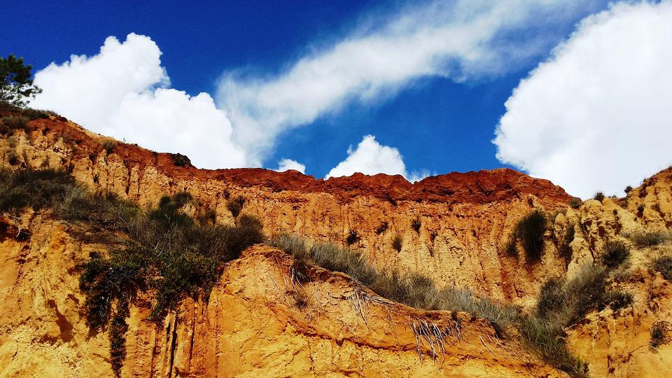 Algarve, Sky, Rock, Nature, Landscape, Outdoor, Sun