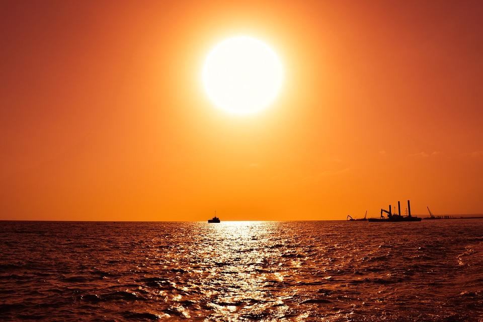Sun, Sunset, Sky, Nature, Light, Sunlight, Orange