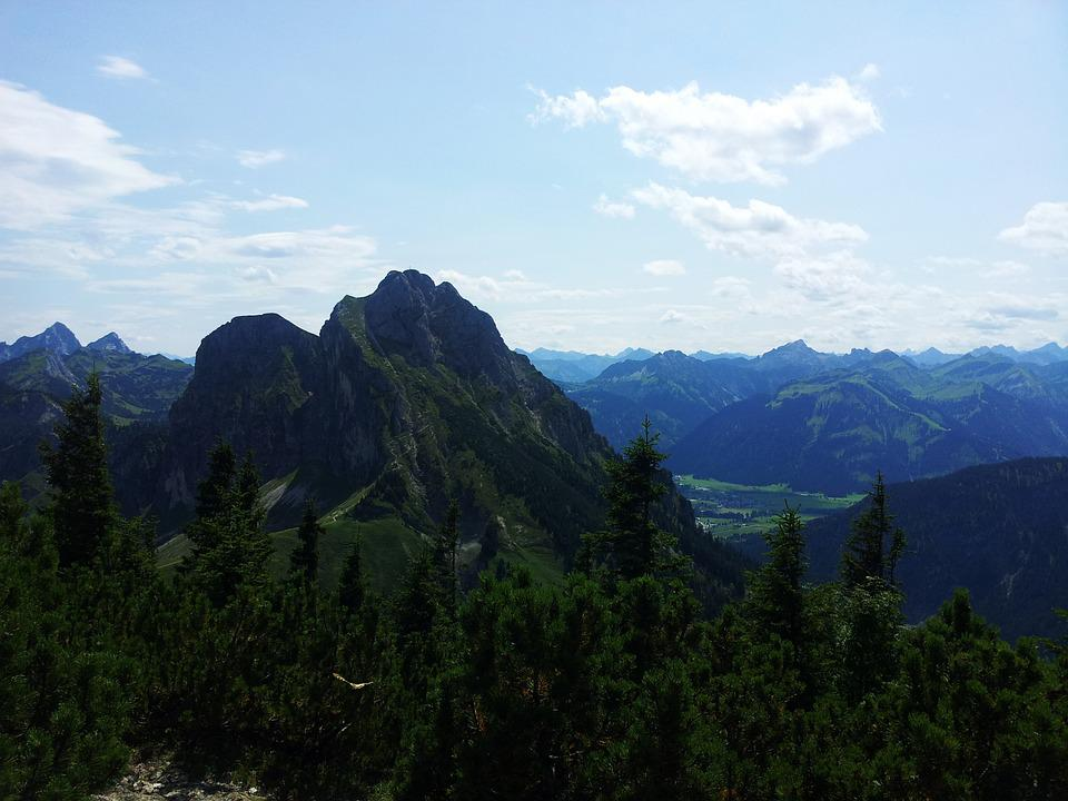 Mountain, Hiking, Sky, Nature, Summit, Distant View