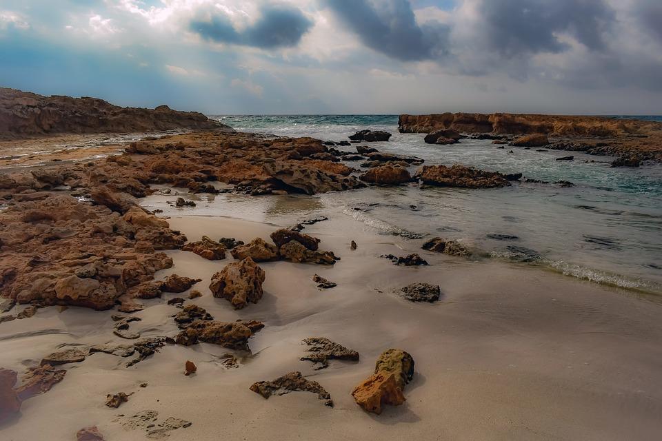 Rocky Coast, Sea, Nature, Sand, Landscape, Sky, Clouds