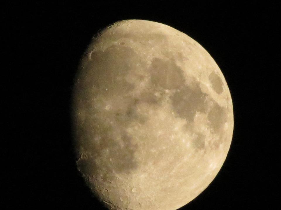 Luna, Sky, Night
