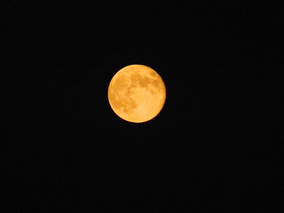 Moon, Night, Dark, Moonlight, Sky, Universe