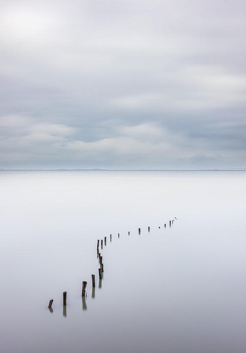 Ocean, Clouds, Horizon, Sky, Nature, Landscape, Scenery