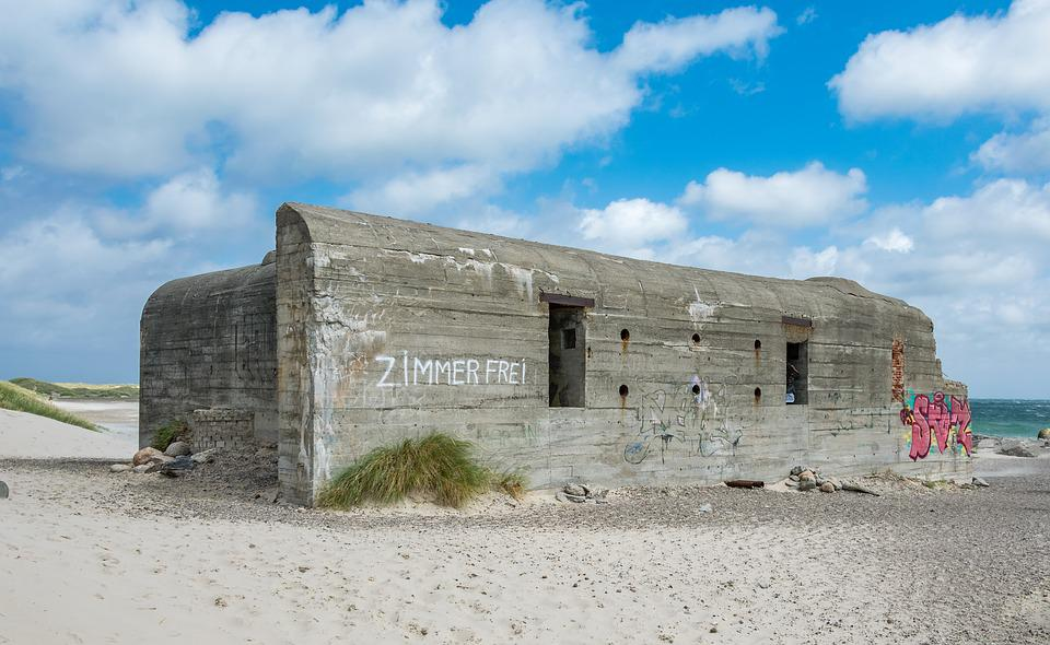 Old, Horizontal, Leave, Architecture, Sky, Bunker
