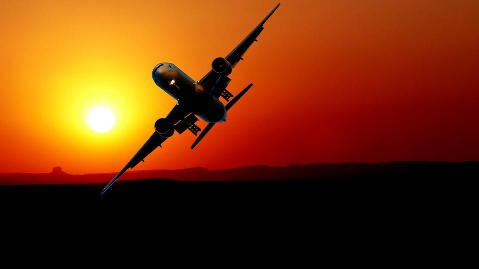 Layer Of The Sun, Aircraft, Sky, Travel, Sun, Orange