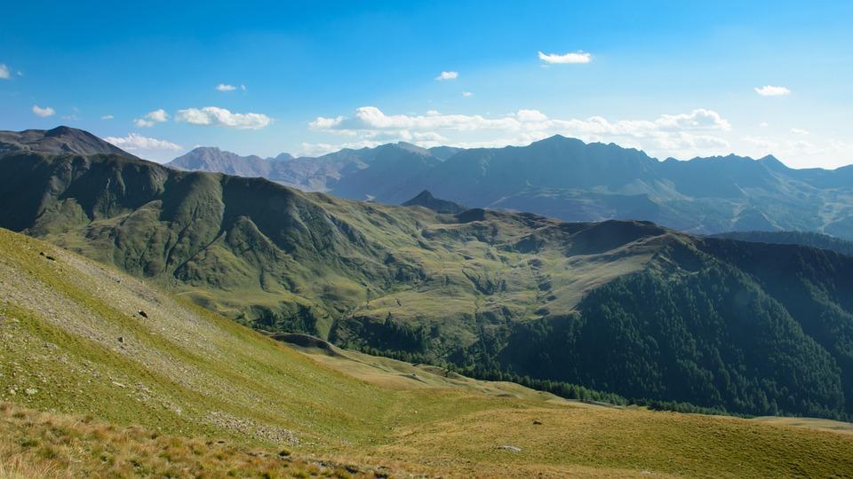 Mountain, Landscape, Sky, Panorama, Nature, Green